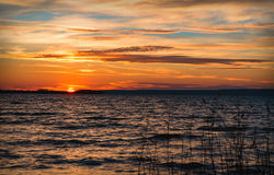 Beautiful sunset under river Royalty Free Stock Photography