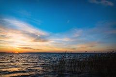 Beautiful sunset under river Stock Photo