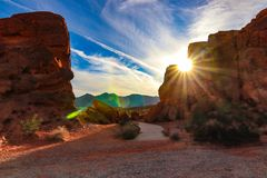 Beautiful sunset in the Valley of Fire. Arizona royalty free stock photo