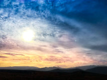 Beautiful sunset in Vecindario (Canary islands) Royalty Free Stock Image