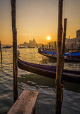 Beautiful Sunset in Venice Stock Image