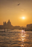 Beautiful Sunset in Venice Stock Photos