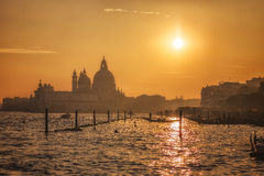 Beautiful Sunset in Venice Royalty Free Stock Photo