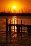Beautiful Sunset View. At St. Kilda Beach Stock Photos