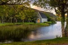 Free Beautiful Sunset View Aat Gougane Barra Cork Ireland Amazing Colors On The Lake And Monastic Place Stock Photography - 161121402