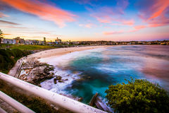 Beautiful sunset view at Bondi beach Stock Photo