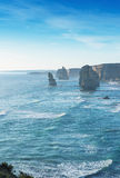 Beautiful sunset view at coast of Twelve Apostles by Great Ocean Stock Image