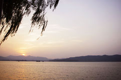 Beautiful sunset view from Hangzhou China Stock Images