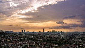 Beautiful sunset view in Kuala Lumpur Royalty Free Stock Images