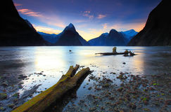 Milford Sound Sunset Stock Images