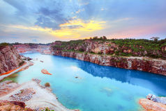 Beautiful sunset view over a lagoon Royalty Free Stock Photography