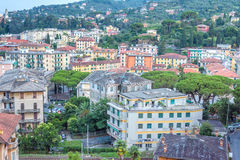 Beautiful sunset view from top to Santa Margherita Ligure city Royalty Free Stock Images