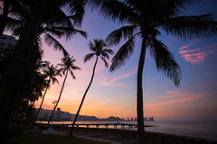 Beautiful sunset views in Georgetown, Malaysia Stock Images