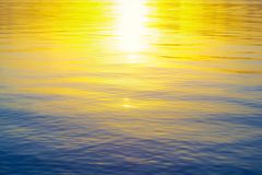 Beautiful sunset in the water Royalty Free Stock Image