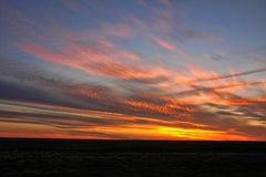 Beautiful sunset in western Australia. The Beautiful sunset in western Australia stock images