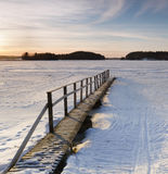 Beautiful sunset on a winter day. In Finland Stock Image
