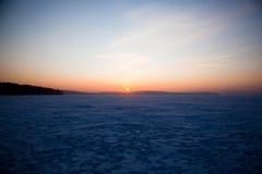 Beautiful sunset on a winter evening Stock Photo
