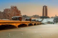Beautiful Sunset Winter Landscape From Romania Stock Photos