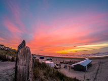 Beautiful sunset in Zandvoort Stock Photos