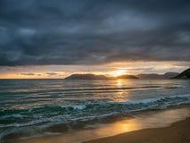 Beautiful sunset in zante island Royalty Free Stock Image