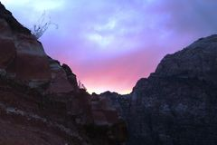 Sunset at Zion stock image