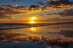 Beautiful sunsets of Playa el Cuco, El Salvador Stock Photos