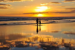 Beautiful sunsets of Playa el Cuco, El Salvador Stock Image