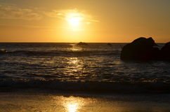Beautiful sunsets. Shot in San Francisco beach Royalty Free Stock Photo
