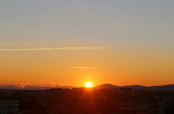 Beautiful sunsets in the sky royalty free stock photography