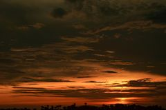 Beautiful sunsets in summer royalty free stock photos