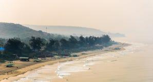 Beautiful sunshine coastline in goa Stock Photo