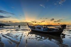 Beautiful sunsire at Rawai beach in Phuket Royalty Free Stock Photo