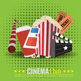 Beautiful Super Trendy Cinema Poster. Vector Illustration Stock Photography