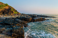 Beautiful surf at the rocks of the  Ocean Stock Image