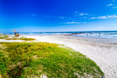 Beautiful Surf and Sand on a Summertime Ocean Beach Royalty Free Stock Photo