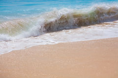 Beautiful surfing sand beach Royalty Free Stock Photos