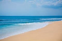Beautiful surfing tropical sand beach Royalty Free Stock Image