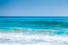 Beautiful surfing tropical sand beach Stock Photo