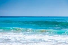 Beautiful surfing tropical sand beach Stock Photo