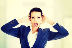 Beautiful surprised businesswoman. Stock Image