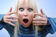 Beautiful surprised woman Royalty Free Stock Photography