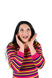 Beautiful surprised woman Stock Images