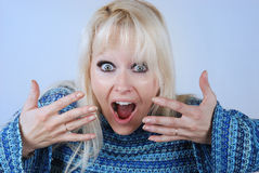 Beautiful surprised woman Royalty Free Stock Image