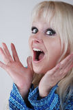 Beautiful surprised woman Royalty Free Stock Images