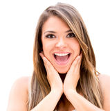 Surprised woman Stock Image