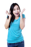 Beautiful surprised woman Stock Image