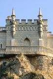 Beautiful Swallow's Nest Castle on the Rock, Crimea, Ukraine. Beautiful Famous Swallow's Nest Castle on the Rock, Crimea, Ukraine royalty free stock images