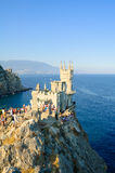 Beautiful Swallow's Nest Castle on the Rock, Crimea, Ukraine. Beautiful Famous Swallow's Nest Castle on the Rock, Crimea, Ukraine royalty free stock image