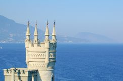 Beautiful Swallow's Nest Castle on the Rock, Crimea, Ukraine. Beautiful Famous Swallow's Nest Castle on the Rock, Crimea, Ukraine stock image