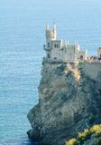 Beautiful Swallow's Nest Castle on the Rock, Crimea, Ukraine. Beautiful Famous Swallow's Nest Castle on the Rock, Crimea, Ukraine stock photography